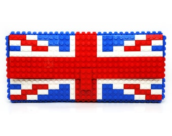British flag clutch purse made with LEGO® bricks FREE SHIPPING purse handbag legobag trending fashion