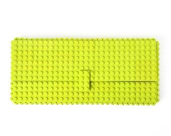 Lime clutch purse made with LEGO® bricks FREE SHIPPING purse handbag legobag trending fashion