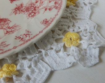 Vintage Doily Romantic Cottage Kitchen or Nursery Decor