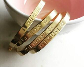 Personalized brass cuff bracelet -brass cuff -handstamped bracelet  -modern pretty jewelry