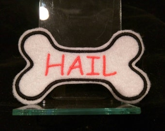 Customized Embroidered Dog Bone Iron On name Patch for your dog