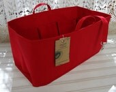 Fits Neverfull GM / Ready to ship/ Purse-Diaper Bag Organizer Shaper/ 14.5 x 7 x 7H /RED/ With stiff wipe-clean bottom, key fob, bottle loop