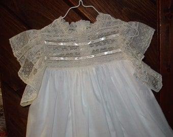 Heirloom dress size 5 white/ecru Communion Confirmation Wedding Flower girl Portrait Pageant Graduation