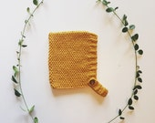 Seed Bonnet in soft cotton yarn, unisex, size newborn to 4T - made to order
