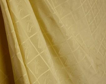 Yellow Silk Palm Tree Fabric