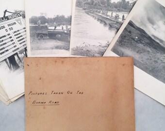 Lot of 21 vintage Burma Road photographs