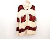 thunderbird COWICHAN thick knit SOUTHWEST nordic style zip up sweater cardigan jacket coat