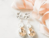 Swarovski Bridal Earrings- Crystal Drop Earrings- Bridal Earrings- Crystal Earrings- Chandelier Bridal Earrings