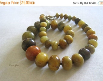 20% OFF ON SALE Tourmaline Jade Hand Knotted Necklace, Gemstone Jewelry