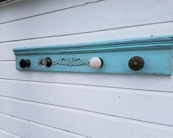 Vintage Door Knob Coat Rack Shabby Chic