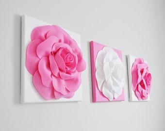 Canvas Art - pink nursery decor, botanical pictures, nature, minimalist, pink home decor, rose wall hangings, Art Decor, Wall Art, boho