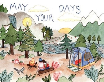May Your Days Holiday Greeting Card