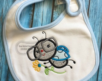 Lady bug applique (with and without the bow- both included!)