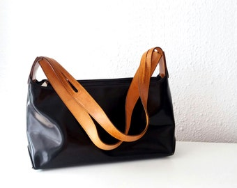 Patent Leather Handbag. Made in Spain.