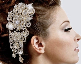Rhinestone Wedding Headpiece, Bridal Rhinestone Headpiece, Formal Wear Tiara