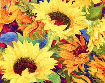 Flowers of the Sun - Willmington Prints - 1 short yard - Last Available