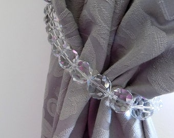 reserved set of 3 Swarovski curtain tiebacks