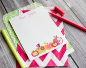 Personalized Apple Teacher Notepads / Personalized Notebook / Personalized Apple Teacher Note Pads/ Set of Notepads /  Set of 2 Notepads