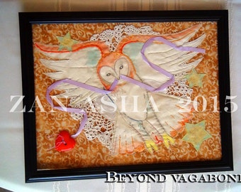BLACK FRIDAY Sale! Enchanted Folk Fairytale QUILTED Forese Owl