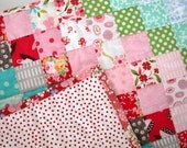 Small Baby Girl Quilt / Changing Pad / Dresser Topper / Carrier Quilt / 19 x 22 Inches / Shabby Chic / Cottage Chic / New Baby Gift