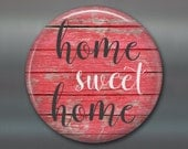 """3.5"""" home sweet home decor, rustic wood sign magnet, kitchen decor, stocking stuffer MA-SIGN-2"""