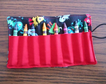 Crayon roll up monsters 8 count