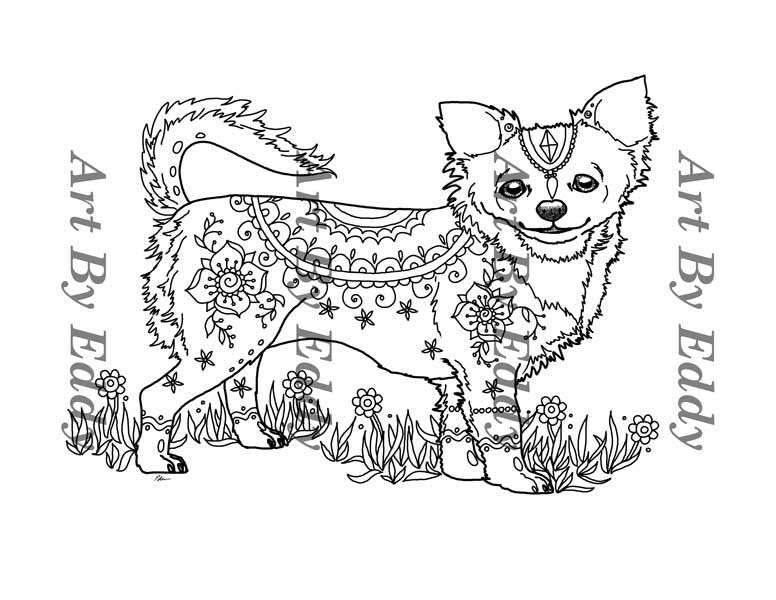 chihuahua coloring pages online - photo#43