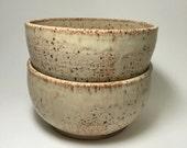 Handmade Stoneware Bowl - Rustic Bowl - Ceramic Bowl - Cereal Bowl - Salad Bowl - Ice Cream Bowl - Speckled Stoneware Bowl - Beige Bowl