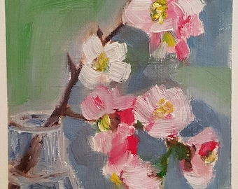 Spring blossoms 3. Original oil painting. Small painting. Affordable original painting.