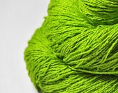 Poisonous lettuce - Silk Noil Lace Yarn - LIMITED EDITION