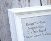 "MAGNET BOARDS for Sale White Modern Framed Magnetic Board Dry Erase Office Steel Bulletin Board 29""x25"" Office Organizer Magnetic Board"