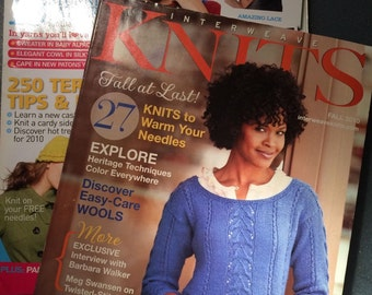 2 Knittings Magazines - Interweave Knits - Let's Knit - 46 Winter Patterns from 2010