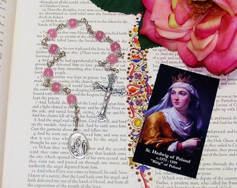 Unbreakable Catholic Chaplet of St. Hedwig of Poland - Patron Saint of Queens
