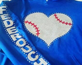 Baseball Hoodie, Baseball Mom Jacket, Baseball Mom Hoodie, Baseball Mom Bling Shirt, Baseball Mom, Softball Mom, Softball Hoodie, Sports Tee