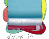 """HALF PRICE used imperfectly beloved book """"diving in"""" by rachel awes."""