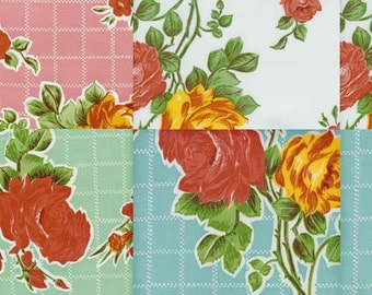 Colorful Rosegall OilCloth Yardage