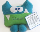 Personalized Sherman the Tooth Fairy Pillow and Tooth Chart KCP002