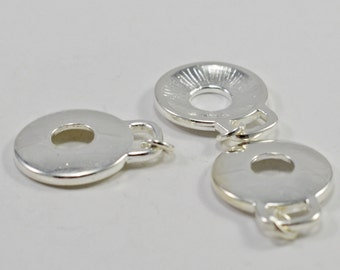 Silver plated drops, 8mm, #1508