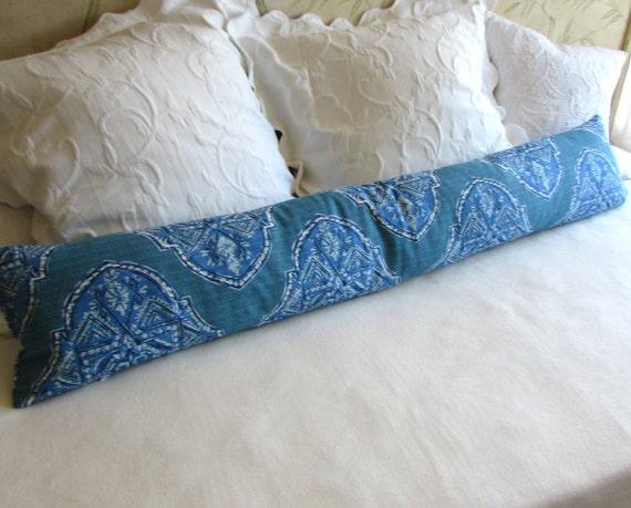 Decorative Pillows Long : decorative bolster pillow 10x54 extra long in malta cyan