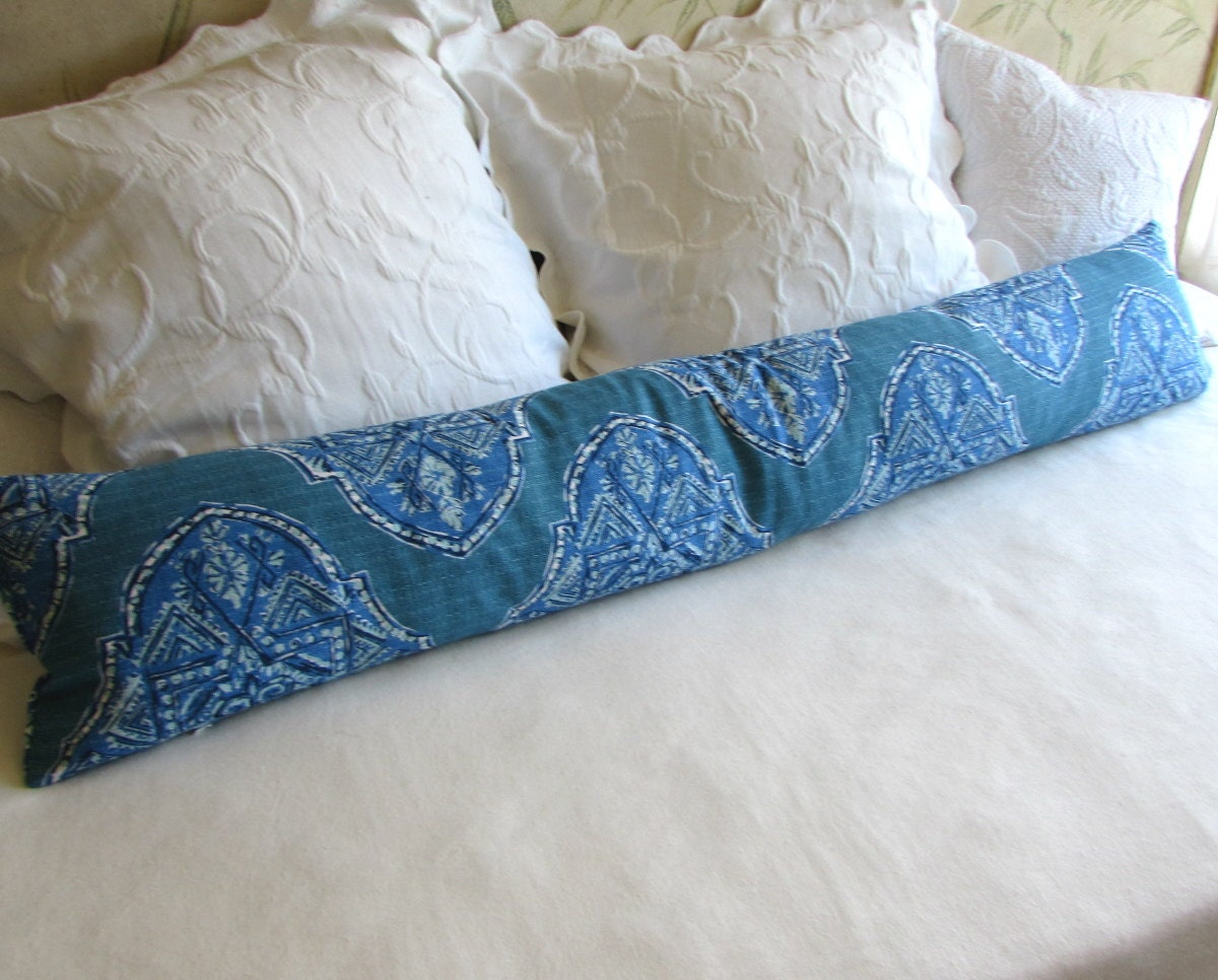 Throw Pillow Bolster : decorative bolster pillow 10x54 extra long in malta cyan