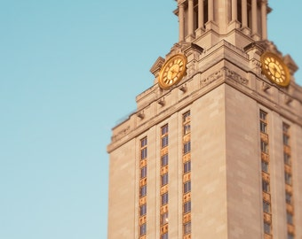 University of Texas, Fine Art Photography, UT Tower, College Student Gift, Austin Texas,Texas Photo, College Graduation, UT Longhorns, Print