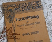 Penmanship Hand Writing School Book 1905 Antique at Quilted Nest