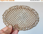 CLOSING 50% vintage soap dish metal soap dish decoration