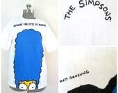 1990s Marge Simpson Tee Beware the Eyes of Marge T Shirt Matt Groening / Stanley Desantis