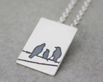 Birds on a Wire...Pendant