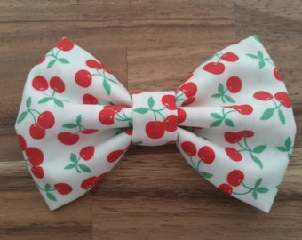 Red Cherries Hair Bow