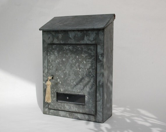 Metal Mailbox Galvanized French Locking Letters Box With Key