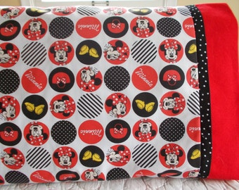 Clearance Minnie Mouse Childrens or Travel Pillow Case