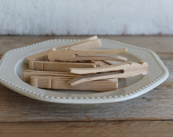 Wooden Clothespins, Set of 9