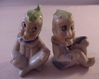 2 Porcelain Japan Elf Elfs Elves Figurines